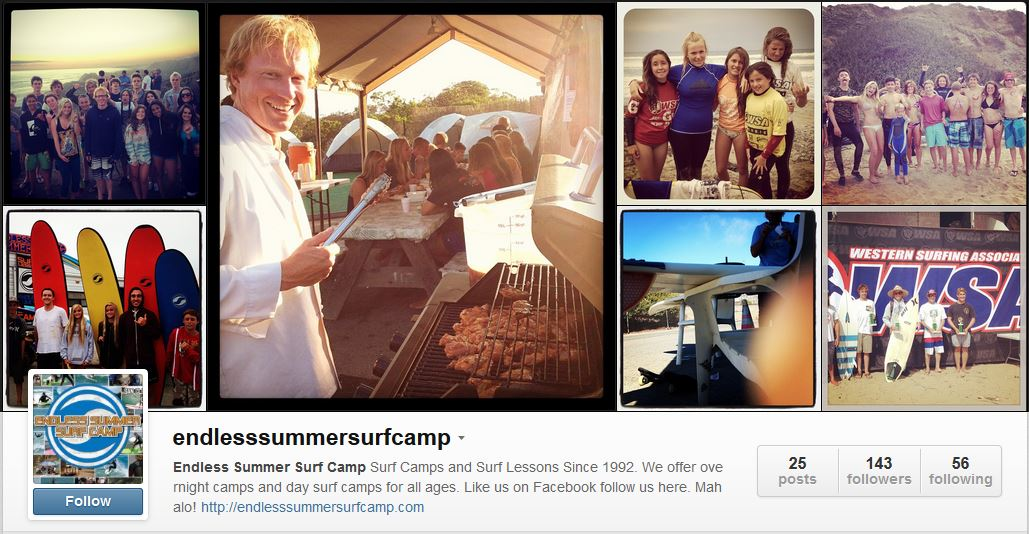 Surf Camp Photos on Instagram